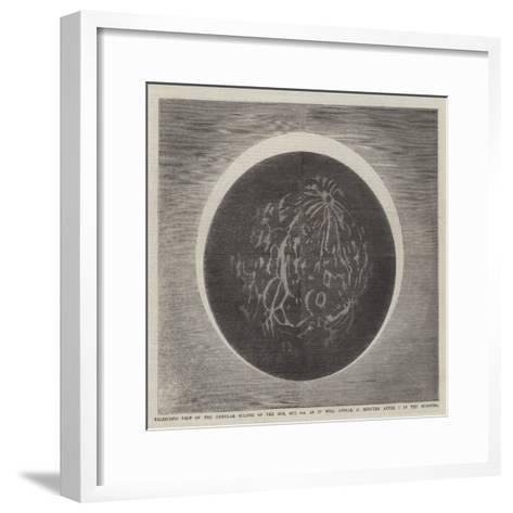 Telescopic View of the Annular Eclipse of the Sun--Framed Art Print