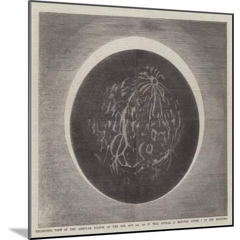 Telescopic View of the Annular Eclipse of the Sun--Mounted Giclee Print