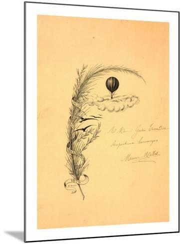 Stationery Illustrated with a Stalk of Wheat Wrapped in a Banner Marked Quo Non Ascendamus 1879 and--Mounted Giclee Print