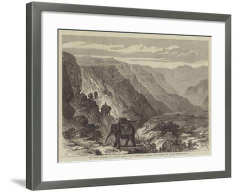 The British Expedition to Abyssinia--Framed Art Print