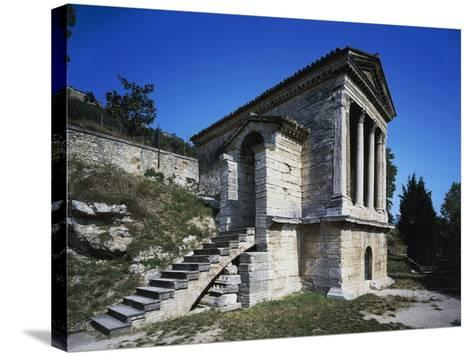 Temple of Clitunno (Unesco World Heritage List--Stretched Canvas Print