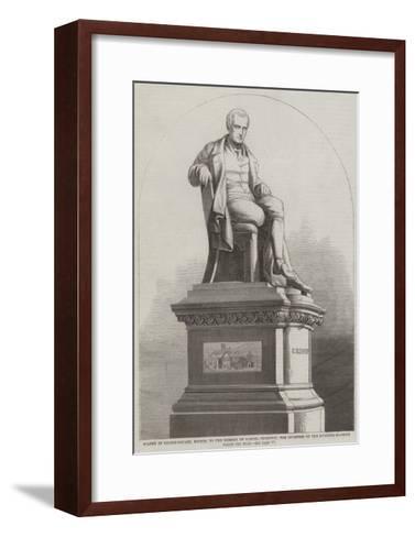 Statue in Nelson-Square--Framed Art Print