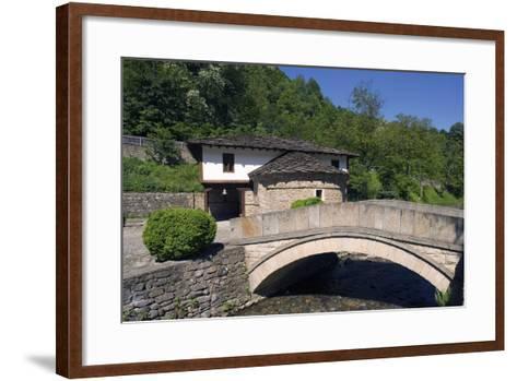 Stone Bridge and Church--Framed Art Print