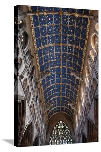 The Barrel Vault of the Central Nave of Carlisle Cathedral (Founded in the 12th Century)--Stretched Canvas Print