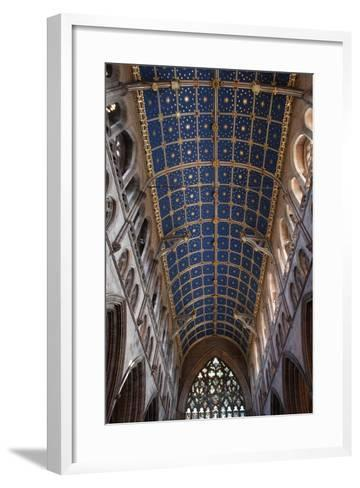 The Barrel Vault of the Central Nave of Carlisle Cathedral (Founded in the 12th Century)--Framed Art Print
