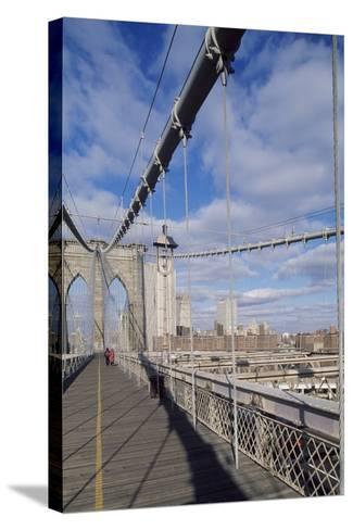 The Brooklyn Bridge--Stretched Canvas Print