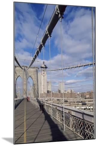 The Brooklyn Bridge--Mounted Photographic Print