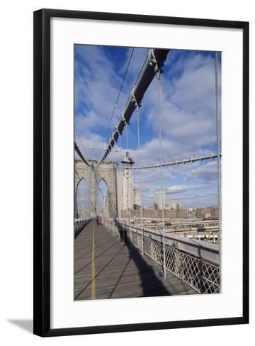 The Brooklyn Bridge--Framed Art Print