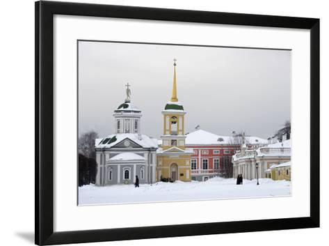 The Church and the Bell Tower on the Left--Framed Art Print