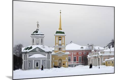The Church and the Bell Tower on the Left--Mounted Photographic Print