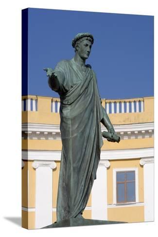 Statue of Armand-Emmanuel Du Plessis--Stretched Canvas Print