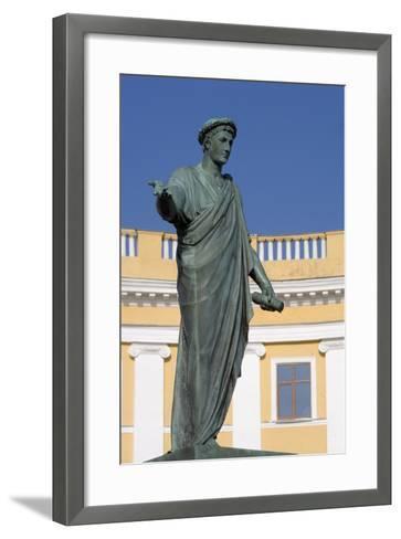 Statue of Armand-Emmanuel Du Plessis--Framed Art Print