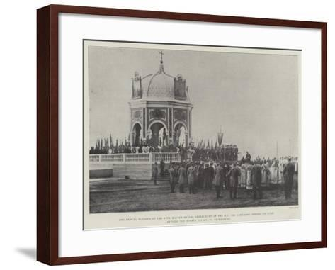 The Annual Blessing of the Neva Waters on the Breaking-Up of the Ice--Framed Art Print