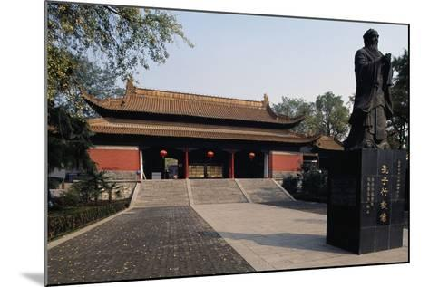 Statue of Confucius in Front of a Pavilion of Chaotian Palace--Mounted Giclee Print