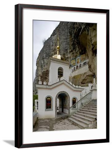 The Bell Tower of the Dormition (Assumption) Cave Monastery--Framed Art Print