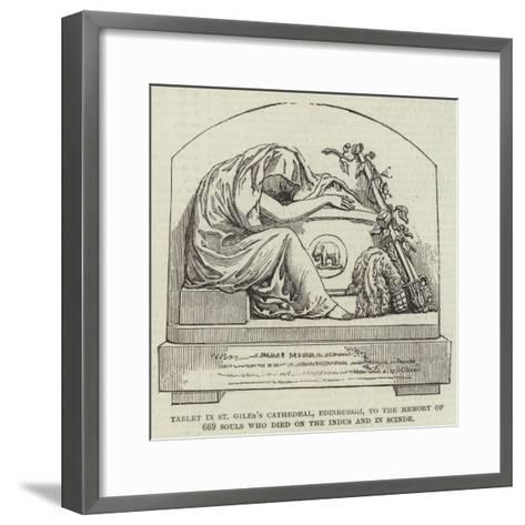 Tablet in St Giles's Cathedral--Framed Art Print