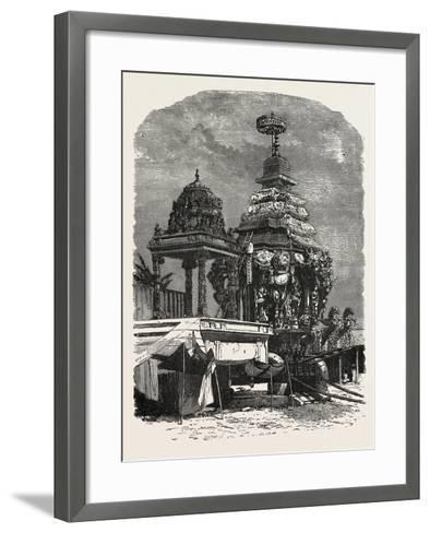 The Car of Juggernaut. Hindu Ratha Yatra Temple Car--Framed Art Print
