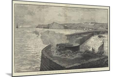 The Channel Tunnel at Dover--Mounted Giclee Print