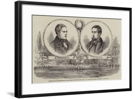 Struggle for the Championship of the Thames Between Henry Kelly--Framed Art Print