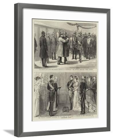 The Arrival of H I M the German Emperor at Sigmaringen--Framed Art Print