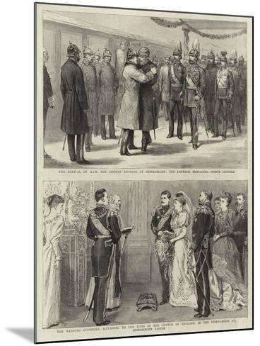 The Arrival of H I M the German Emperor at Sigmaringen--Mounted Giclee Print
