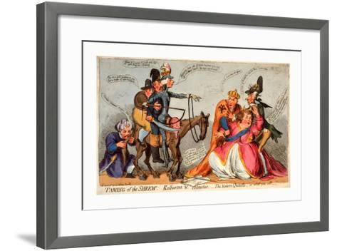 Taming of the Shrew--Framed Art Print