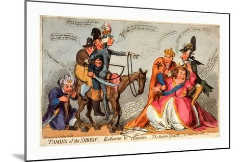 Taming of the Shrew--Mounted Giclee Print