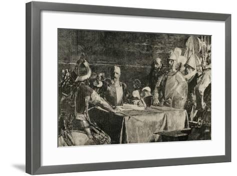 The Blood Compact's Ceremony Between Miguel Lopez De Legazpi (1503-1572) and Sikatuna--Framed Art Print