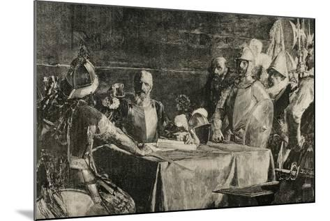The Blood Compact's Ceremony Between Miguel Lopez De Legazpi (1503-1572) and Sikatuna--Mounted Giclee Print