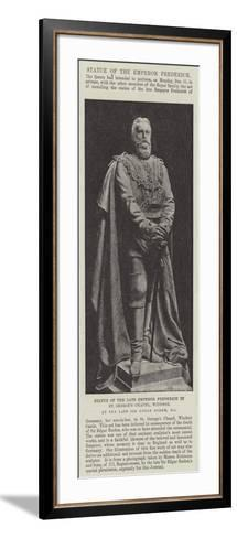 Statue of the Late Emperor Frederick in St George's Chapel--Framed Art Print