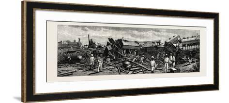 The Accident Near Nagpur on the Great Indian Peninsula Railway: the Wreck of the Leading Engine Is--Framed Art Print