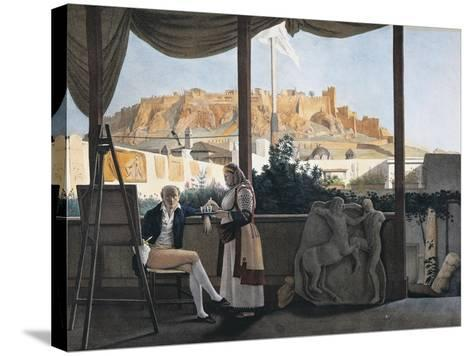 The Acropolis of Athens Seen from the House of the French Consul Louis-Francois-Sebastien Fauvel--Stretched Canvas Print