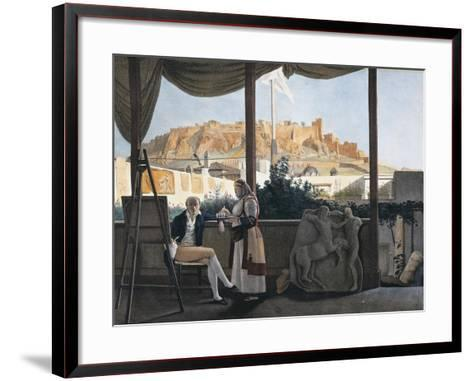 The Acropolis of Athens Seen from the House of the French Consul Louis-Francois-Sebastien Fauvel--Framed Art Print