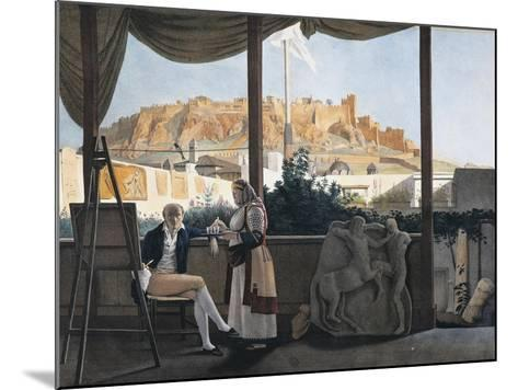 The Acropolis of Athens Seen from the House of the French Consul Louis-Francois-Sebastien Fauvel--Mounted Giclee Print