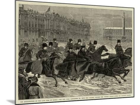 The Assassination of the Late Czar of Russia--Mounted Giclee Print