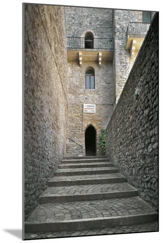 Staircase and Entrance Gate to Malatesta Castle--Mounted Photographic Print