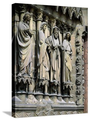 Statues from Central Entrance--Stretched Canvas Print