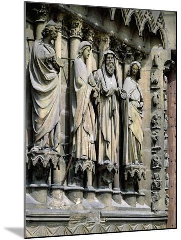 Statues from Central Entrance--Mounted Giclee Print