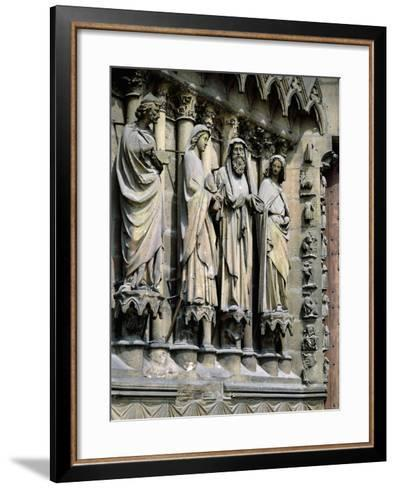Statues from Central Entrance--Framed Art Print