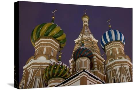 The Domes of Saint Basil's Cathedral (Hram Vasilija Blazennogo)--Stretched Canvas Print