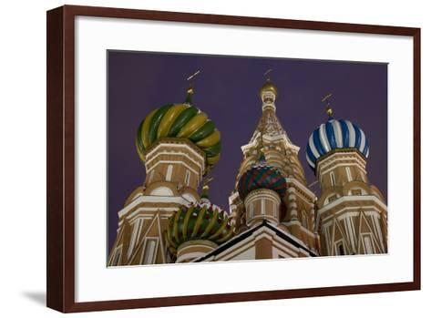 The Domes of Saint Basil's Cathedral (Hram Vasilija Blazennogo)--Framed Art Print
