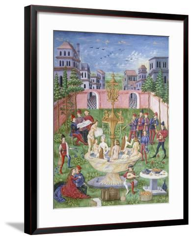 The Fountain of Life: Singers and Musicians in a Garden--Framed Art Print