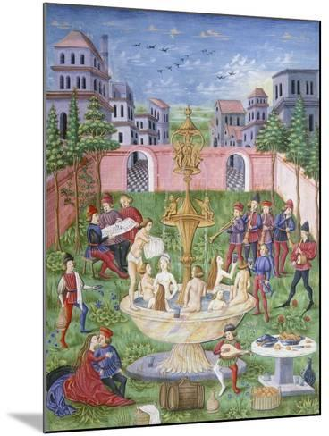 The Fountain of Life: Singers and Musicians in a Garden--Mounted Giclee Print