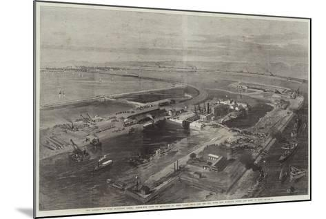 The Isthmus of Suez Maritime Canal--Mounted Giclee Print