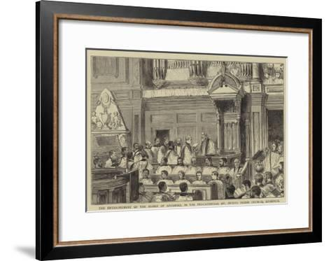 The Enthronement of the Bishop of Liverpool in the Pro-Cathedral (St Peter's Parish Church)--Framed Art Print