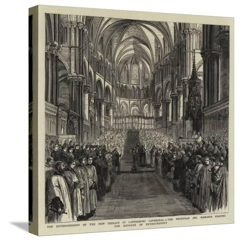 The Enthronement of the New Primate in Canterbury Cathedral--Stretched Canvas Print