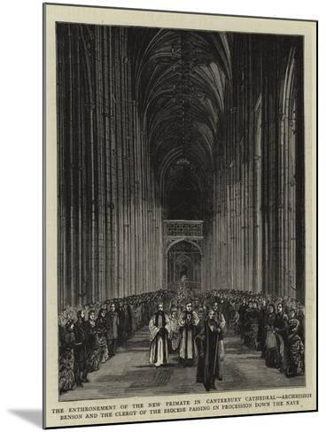 The Enthronement of the New Primate in Canterbury Cathedral--Mounted Giclee Print