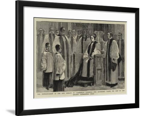 The Enthronement of the New Primate in Canterbury Cathedral--Framed Art Print