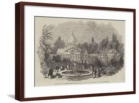 The Duchess of Northumberland's Fete at Sion House--Framed Art Print