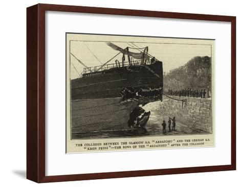 The Collision Between the Glasgow Ss Ardandhu and the German Ss Kron Prinz--Framed Art Print